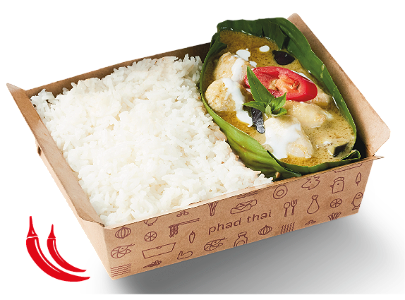 Foto Green Chicken Curry with Rice